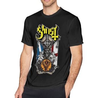 Max-GH ゴースト メンズ コットン 半袖 クルーネック Tシャツ Gh-ost B.C. 3XL