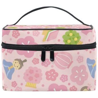 バララ (La Rose) 化粧ポーチ コスメポーチ 大容量 おしゃれ 機能的 かわいい 花柄 和柄 和風 メイクポーチ 化粧箱 軽量 小物入れ 収納バッグ 女性 雑貨 プレゼント