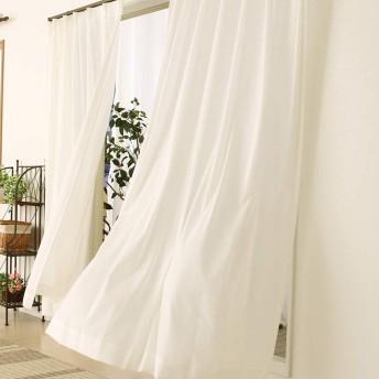 夜でも見えにくいふわふわレースカーテン「ピクシー」4112ホワイト 幅100x丈198cm2枚組 100×198 在庫品
