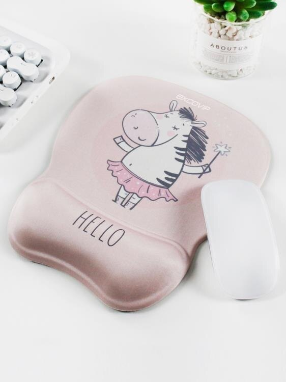 舒適可愛豬滑鼠墊護腕女卡通辦公可愛女生立體硅膠滑鼠護腕墊