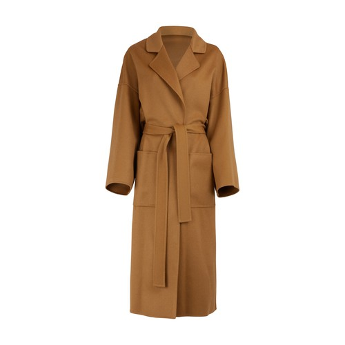 Oversize coat with belt