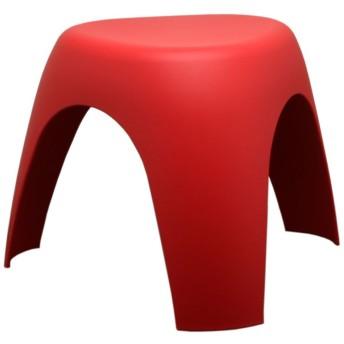 家具通販/インテリア 雑貨 おしゃれ/ 像脚 スツール 軽い、強い、コンパクトで、可愛い 柳宗理 いす 椅子 三本脚 踏み台 (レッド 赤)