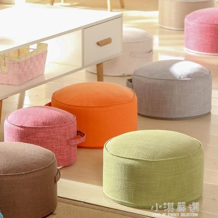 棉麻榻榻米墊子家用日式地板坐墩可拆洗布藝加厚圓形地上坐墊蒲團