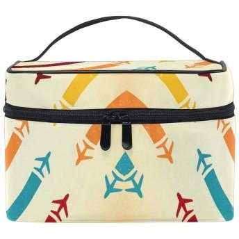飛行機化粧品袋オーガナイザージッパー化粧バッグポーチトイレタリーケースガールレディース