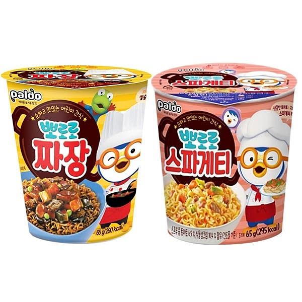 韓國 八道Paldo PORORO啵樂樂炸醬/紅醬義大利 杯麵(65g) 款式可選【小三美日】 團購/泡麵