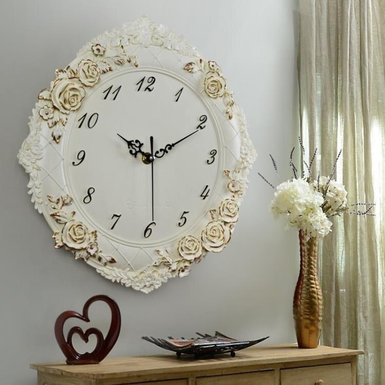 歐式掛鐘客廳創意藝術鐘靜音高檔掛錶臥室裝飾鐘錶賓館石英鐘