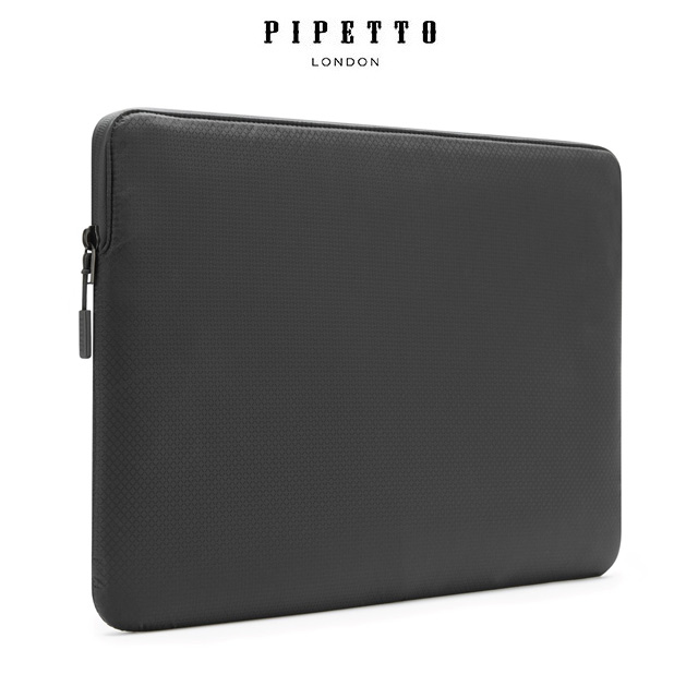 PIPETTO MacBook 16/15吋 Ultra Lite Sleeve 鑽石紋防撕裂布電腦包-黑色