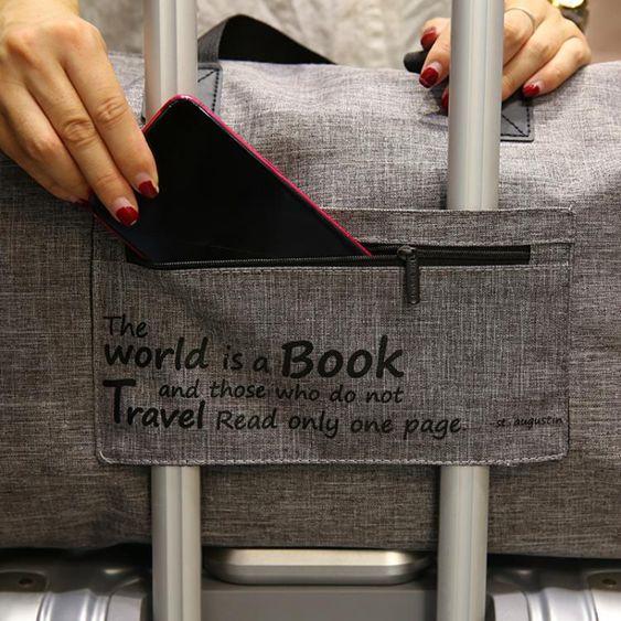 短途出差可摺疊包便攜旅行袋大容量輕便拉桿包男女運動健身行李包