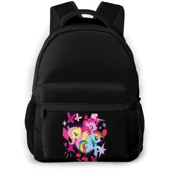 ユニセックス マイリトルポニー 家族 学校/スポーツバックパック、カジュアルなユニセックススタイルの大学の学校のバッグ/ラップトップバッグ男性用女性。