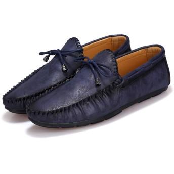 [ファイン・ショップ] メンズ カジュアルシューズ ドライビングシューズ ローカット フラット ラウンドトゥ 耐磨耗 滑り止め 快適 柔らかい 歩きやすい 履きやすい 通気 ビジネス 就職活動 スリッポン 紳士靴 24.5~27.0cm