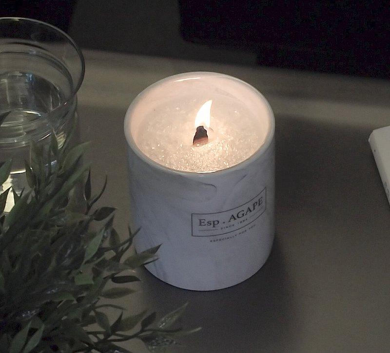 DIY冰花香薰蠟燭材料包 (配澳洲天然有機精油) / Esp.AGAPE