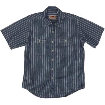 (カムコ) 半袖 ブルー ストライプ シャンブレイシャツ CAMCO CHAMBRAY SHIRTS 021 M