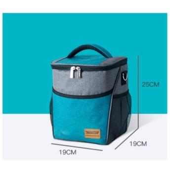 子供の女性の大容量ファッションピクニックバッグランチボックスの新しいカジュアルなランチバッグ熱絶縁フードバッグ,青い