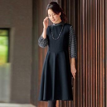 サーキュラージャンパードレス / 40代 50代 60代 70代 ファッション シニア ミセス レディース 婦人服 ワンピース ジャンパードレス 日本製 上品