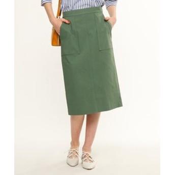 【anatelier:スカート】【Lサイズあり】ミモレ丈タイトスカート