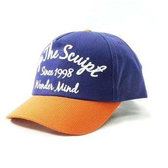 コットン100% ロゴマーク 刺繍 ベースボールキャップ [パープル] レディース メンズ 綿 無地 2トーン 帽子 ハット