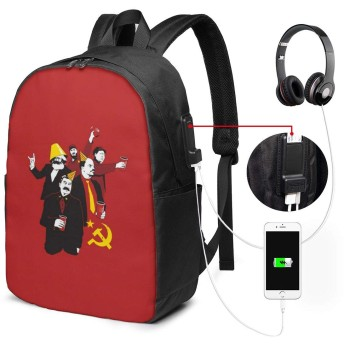 共産主義 リュック バックパックリュックサック USB充電ポート付き イヤホン穴付き 大容量 PCバッグ レジャーバッグ 旅行カバン 登山リュック ビジネスリュック ユニセックス おしゃれ 人気