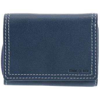 [コムサメン] 三つ折り財布 ミニ財布 ラミ メンズ 【80】ブルー