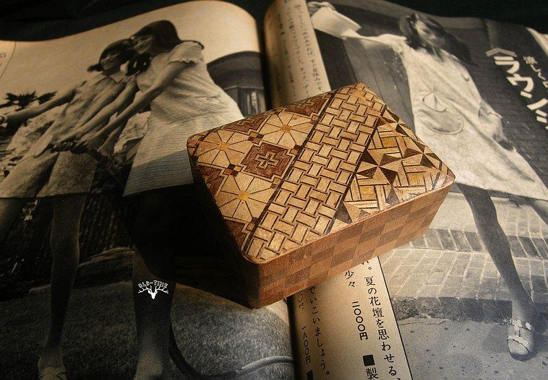 【老時光 OLD-TIME】早期日本製寄木細工收藏木盒
