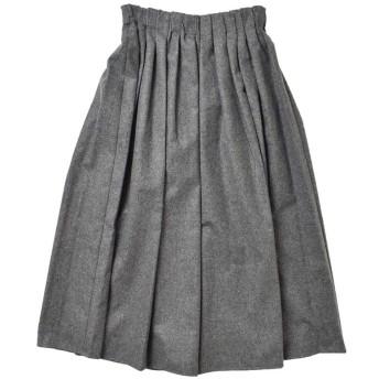 (オニールオブダブリン)O'NEIL OF DUBLIN aranciato別注 ウールブレンドタックチェックロングスカート 12 Gray(col.greywp) s26582-122-greywp