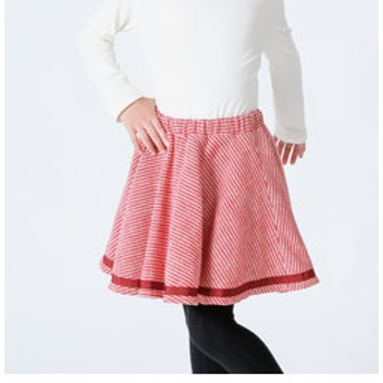 【COMME CA FILLE:スカート】コットンツイード 千鳥格子 フレアスカート