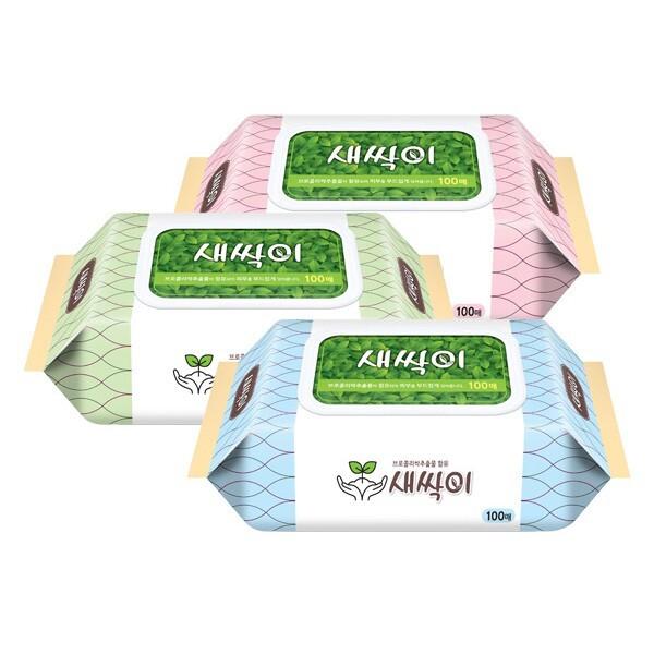 韓國 jjtissue 濕紙巾100抽(含蓋)  款式隨機出貨濕紙巾/紙巾/濕巾