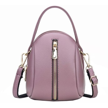 PUレザーショルダーバッグ多彩なハンドバッグレディコスメティックバッグミニ携帯電話バッグ (Color : Purple, Size : 161018cm)