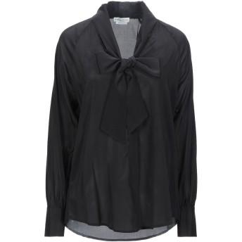 《セール開催中》BALLANTYNE レディース シャツ ブラック 40 シルク 93% / ポリウレタン 7%
