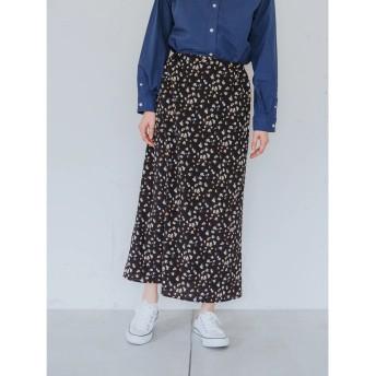 ・カラーペイント柄スカート
