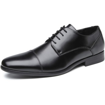 [フォクスセンス] ビジネスシューズ 革靴 軽量・撥水 本革 ストレートチップ 紳士靴 外羽根 メンズ ブラック 25.5cm 6072-3-01