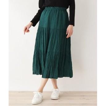【SHOO・LA・RUE:スカート】しわプリーツティアードスカート