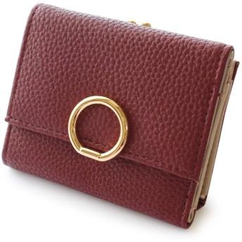 [ジュエルボックス] JewelVOX 財布 ウォレット レザー サークルモチーフ 合皮 ワンタッチ がま口財布 ミニ小さい シンプル ワイン 選択