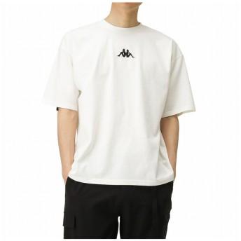 マックハウス KAPPA カッパ テープ使い半袖Tシャツ F56283DM メンズ ホワイト M 【MAC HOUSE】