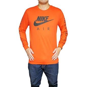 [ナイキ] メンズ グラフィック ロング スリーブ Tシャツ オレンジ Men's Graphic Long Sleeve T-Shirt Orange Black S OB [並行輸入品]