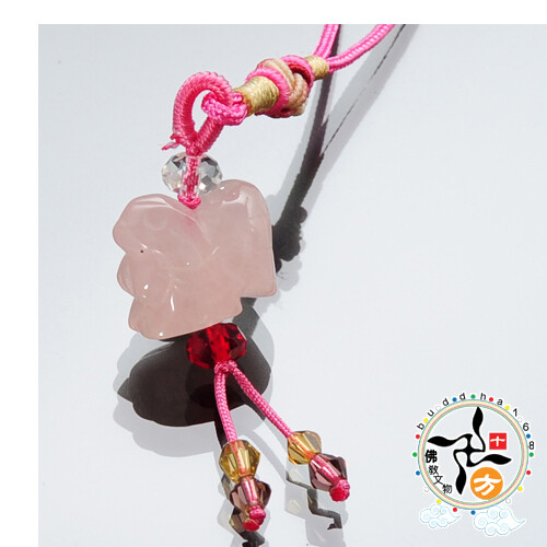 雞(粉晶)吊飾十方佛教文物