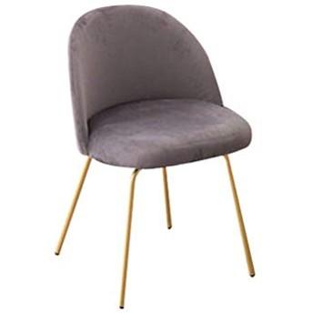 SLY ソフトベルベットのダイニングチェア、バーカフェティーショップメイクショップブライダルショップカウンターラウンジメタル美脚リビングルームの椅子 (Color : A-GRAY)