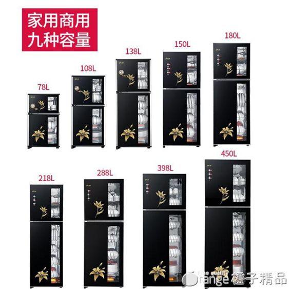 消毒櫃家用立式迷你小型雙門高溫不銹鋼商用消毒碗櫃大容量臺櫃式