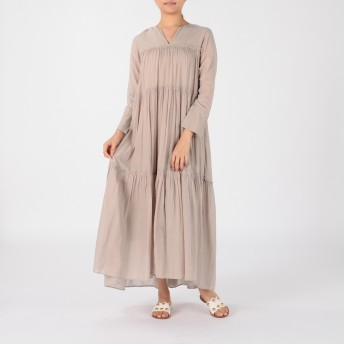 ne Quittez pas(ヌキテパ)/COTTON VOILE TIERED  DRESS