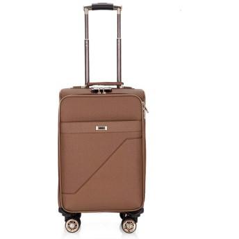 ユニセックススーツケース、新しいファッショントロリーケース、ユニバーサルホイールビジネス搭乗、軽量PUトラベルバッグ、休暇-coffee-M