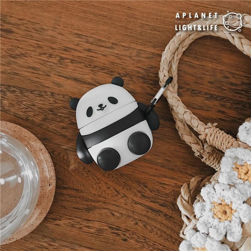 防疫必備 airpods 1代/2代 耳機保護套 熊貓造型 消毒 殺菌 防護