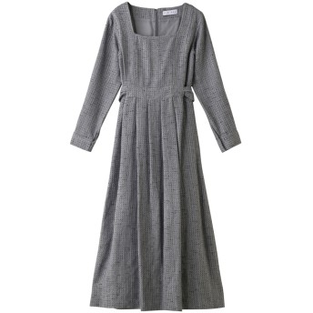 RIM. ARK リムアーク Basket tweed noble dress/ドレス グレー