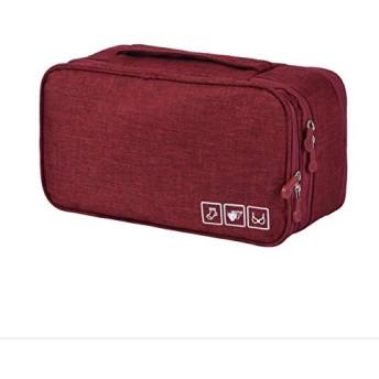 旅行収納バッグ、ポータブルシンプルなブラバッグ、多機能防水下着バッグ仕分けバッグ (Color : Red)