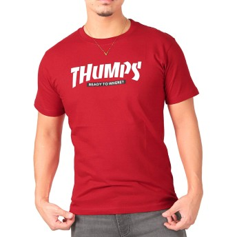 LUX STYLE(ラグスタイル) Tシャツ メンズ 半袖 ロゴ プリント ストリート 夏 pm-8189 レッドXL(LL)