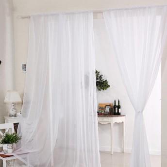 Littlegrassjp カーテン ボイル 薄い レース 透けない セット おしゃれ ドアカーテン ミラーレースカーテン 自然の風を通し 洗濯可能 窓 部屋 2枚