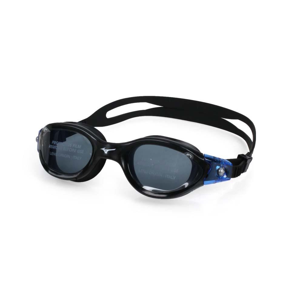 MIZUNO SWIM 泳鏡-蛙鏡 游泳 戲水 美津濃 黑藍 F