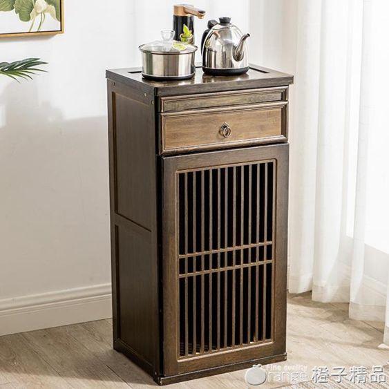 簡易迷你茶吧機客廳家用全自動上水小型多功能茶水架中式儲物櫃子