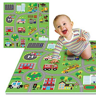 LOG樂格 環保EPE幼兒遊戲巧拼墊 -動物遊樂園 60X60cmX厚2cmX4片
