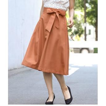 【ViS:スカート】タックフレアスカート