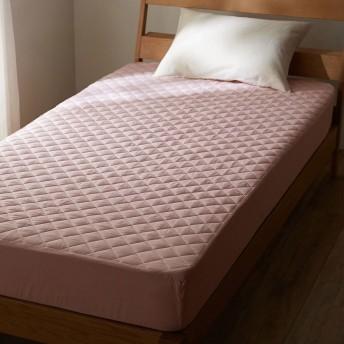 [ベルメゾン] 先染め綿100%のボックスシーツ型敷きパッド パープル サイズ:キング