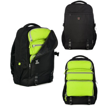 ZTYCLI タウンリュック リュックサック バッグ メンズ 旅 お出かけ 通勤 バックパック (30L(34.5cm17cm51cm), 緑)